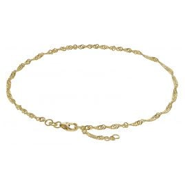trendor 63263 Anklet 333 Gold Singapore Pattern 2.2 mm wide