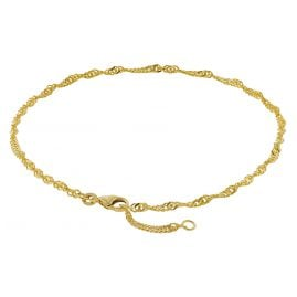 trendor 50507 Fußkettchen 333 Gold Singapur-Muster Breite 2,4 mm
