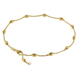 trendor 75295 Anklet Sterling Silver 925 Gold-Plated