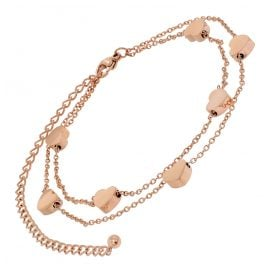 trendor 75896 Anklet Rose Gold Plated Stainless Steel