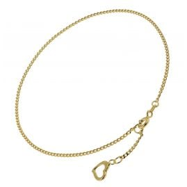 trendor 51195 Anklet Gold Plated Silver with Heart Pendant