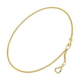 trendor 51329 Anklet With Heart Gold 333 / 8K