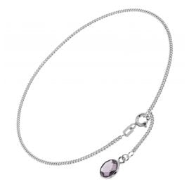 trendor 51333 Anklet 925 Sterling Silver With Purple Quartz