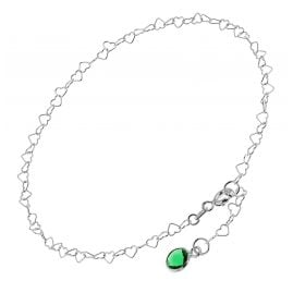 trendor 51336 Anklet 925 Sterling Silver With Green Quartz