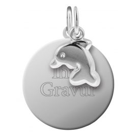 trendor 87653 Silver Kid's Engraving Set Dolphin