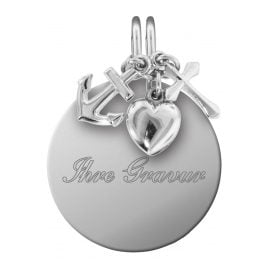 trendor 87738 Silver Engraving Pendant Set Spirit, Love, Hope