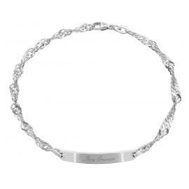 trendor 88643 Silber Gravur-Armband 19 cm