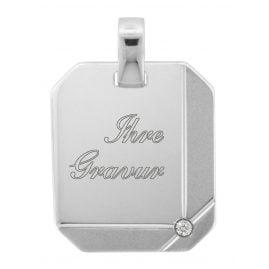trendor 70272 Silber Gravuranhänger mit Zirkonia
