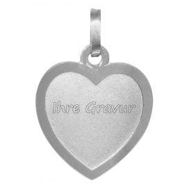 trendor 73327 Gravur Herz-Anhänger Silber