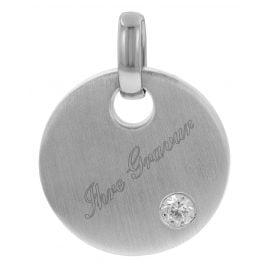 trendor 78988 Gravurplatte Silber Rund