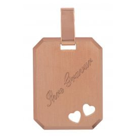 trendor 79480 Silver Pendant Engraving Plate rosegold