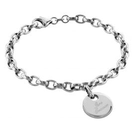 trendor 79381 Silver Bracelet with Engraving Plate