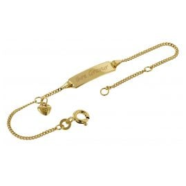 trendor 50484 Engraving Bracelet For Kids Gold 333