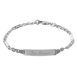 trendor 50569-16 Silver ID Bracelet for Teens