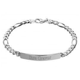 trendor 35676 Silver Mens Engraving Bracelet