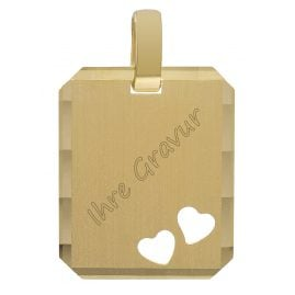 trendor 35772 Pendant Engraving Plate Gold