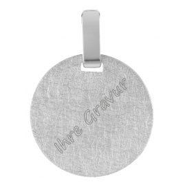 trendor 08306 Silver Engraving Pendant Round