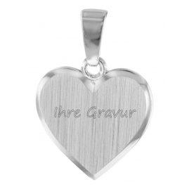 trendor 08524 Children's Engraving Heart Pendant Silver