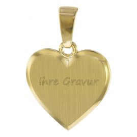 trendor 08526 Kids Engraving Pendant Heart Gold 333/8K