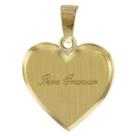 trendor 08612 Heart Engraving Pendant 16 mm Gold 585