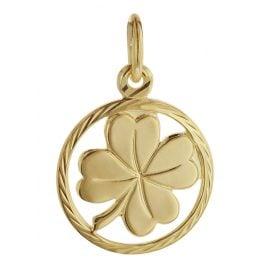 trendor 08622 Kleeblatt Glücksanhänger 585 Gold 12 mm