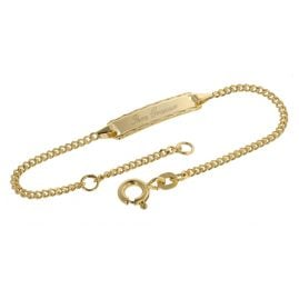 trendor 08653 Engraving Bracelet Gold 585/14 ct for Kids 14 cm