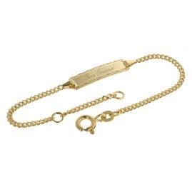 trendor 08653 Armband zum Gravieren 585 Gold für Kinder 14 cm