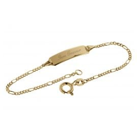 trendor 08654-14 Bracelet with Engraving 585 Gold for Kids Length 14 cm