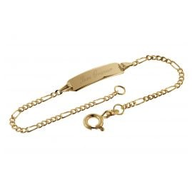 trendor 08655-14 Bracelet with engraving 585 gold for children length 14 cm