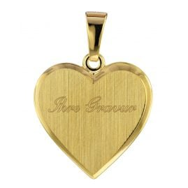 trendor 75105 Heart Engraving Pendant 333 Gold/8 Carat 16 mm