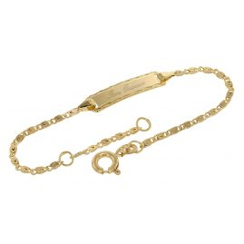 trendor 75203 Engraving Bracelet for Toddlers 333 Gold 14 cm