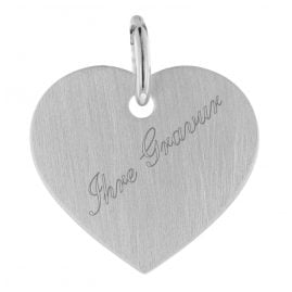 trendor 75694 Kids Heart Engraving Plate Pendant White Gold 333 (8 Carat)
