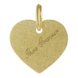 trendor 75695 Gravurplatte für Kinder Herz Anhänger Gold 333 (8 Karat)