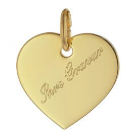 trendor 75698 Engraving Pendant Heart Shape Gold 333 (8 Kt)