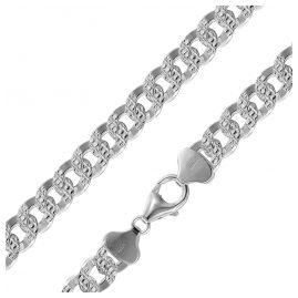 trendor 08795 Halskette für Männer 925 Silber Panzerkette Breite 9,7 mm