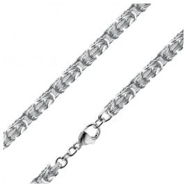 trendor 08856 Necklace For Gents 925 Silver Byzantine Chain 4,3 mm