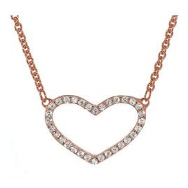 trendor 35960 Ladies Silver Necklace with Cubic Zirconia Heart