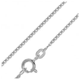 trendor 75204 Box Chain Necklace White Gold 585 Thickness 1.2 mm