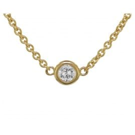 trendor 75193 Gold Necklace for Women Gold 375 Cubic Zirconia