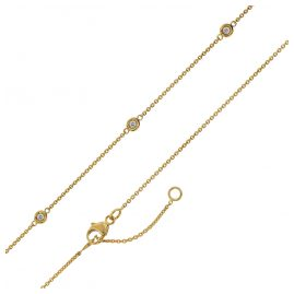 trendor 75194 Women's Necklace Yellow Gold 375 with 5 Cubic Zirconias