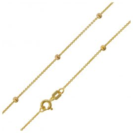 trendor 75198 Yellow Gold Ball Necklace 375 (9 ct) Round Anchor