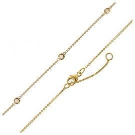 trendor 75299 Halskette für Damen Gold 375 (9 Karat) Ankerkette mit Zirkonias