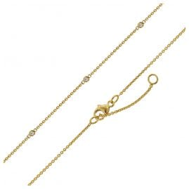 trendor 75300 Necklace with Cubic Zirconias Gold 375 (9 Carat)