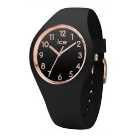 Ice-Watch 014760 Ice Glam Black Rose Gold Watch S