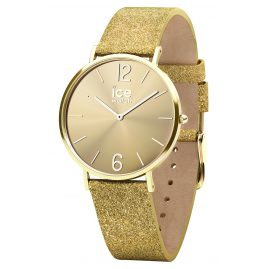 Ice-Watch 015087 Damenuhr City Sparkling Glitter Gold S