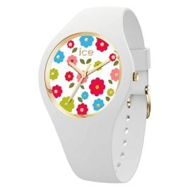 Ice-Watch 017582 Damen-Armbanduhr Flower Power Weiß S