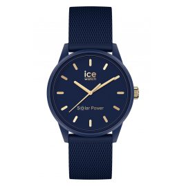 Ice-Watch 018743 Solar-Damenuhr S Navy Gold