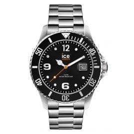 Ice-Watch 016032 Herrenuhr Ice Steel Black Silver L