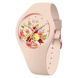 Ice-Watch 017583 Damen-Armbanduhr ICE flower Blumenstrauß Rosa M