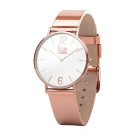 Ice-Watch 015085 Ladies Quartz Watch City Sparkling Metal Rose Gold XS